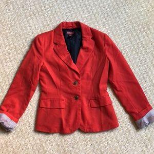 Red/orange blazer with stripe detail